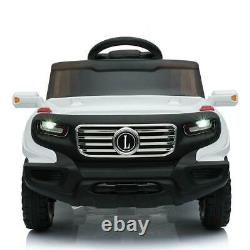 Ride On Car Electric Power Kids Toy 3 Speed Light Music White + Remote Control