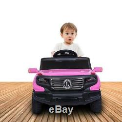 Ride On Car Electric Power Kids Toy 3 Speed Music Player Pink + Remote Control