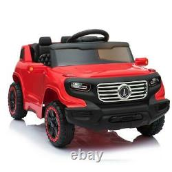 Ride On Car Electric Power Kids Toy 3 Speeds Music Player RED + Remote Control