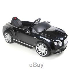 Ride On Car Licensed Bentley 12V Battery Remote Control Music Horn Sound Black