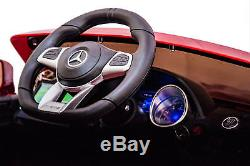 Ride On Car One Seater 12V Battery Licensed Mercedes SL65 MP4 Screen RC MP3 Red