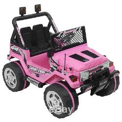 Ride On Cars Jeep 12V Electric Kids Toys Head Lights WithRemote Control 3 Speeds