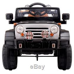 Ride On Jeep Style Truck 12V Battery Powered Toy Vehicle 2 Motor Remote Control