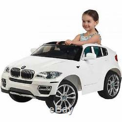 Ride-On Kids Car BMW X6 6V Battery Powered Operated Electric Children Toy White