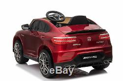 Ride On Toy Pedal Cars 12V Powered Mercedes Benz Remote Control Lights MP3 Red