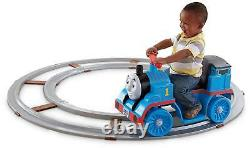 Ride-On Toy Thomas Train with Track, 6V Power Ride on Car Toy for Kids Children