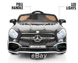Ride On Toys 12V Battery Car Mercedes Remote MP4 Screen LED wheels Black