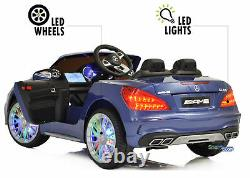 Ride On Toys for Toddlers Mercedes Remote Control AUX MP4 Screen LED wheels Blue