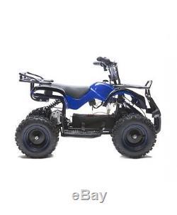 Rosso Motors Kids Electric 4 wheeler Utility ATV 36V 800W Boys & Girls Blue