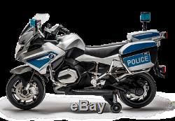 Rosso Motors Kids Police Ride-on Motorcycle Bike Car 12V with engine sound, music