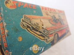 SPACE PATROL CAR NOMURA TOYS MADE IN JAPAN 60' WORKING