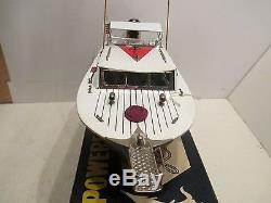 SPORT FISHERMAN WITH MERCURY OUTBOARD MOTOR MINT IN BOX BATTERY OPERATED