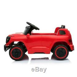 Safety Kids Ride on Car Toys Electric Power 4 Wheel MP3 Light Remote Control Red
