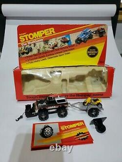 Schaper STOMPER, Ford Bronco iob, 1984. With trailer, motorcycle, winch, surfboard