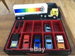Schaper Stomper 4x4 Lot of 7 including Cab Over Semi, Scottsdale &Collector Case