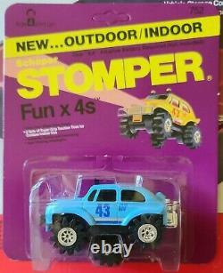 Schaper Stomper 4x4 Rare Blue Baja Bug NOC UNPUNCHED CARD perfect Mint Card AFA