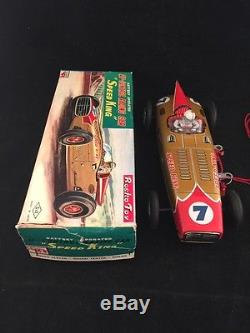 Speed King Tin Toy Car Battery Operated U Control With Original Box SE Japan 1960