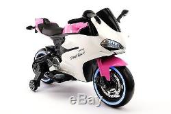 Street Racer 12V Electric Kids Ride-On Motorcycle Pink