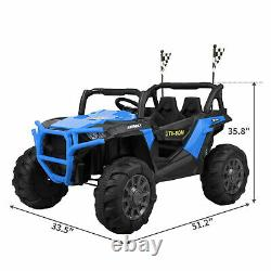 TOBBI 12V Kids Electric Battery-Powered Ride On 3 Speed Toy SUV Car with MP3, Blue