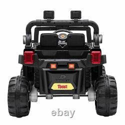 TOBBI 12V Kids Electric Battery-Powered Ride On 3 Speed Toy SUV Truck Car, Black