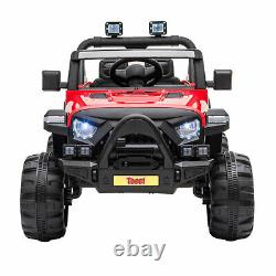 TOBBI 12V Kids Electric Battery-Powered Ride On 3 Speed Toy SUV Truck Car, Red