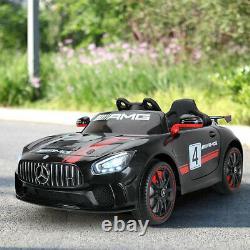 TOBBI 12V Kids Electric Battery-Powered Ride On Toy Mercedes-Benz Car, Black