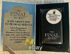 The Final Word Voice Box Cursing Offensive Language Vintage 1990 New
