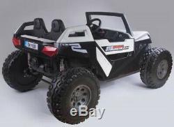 Touch Tv Utv Big Razor R/c Ride 24v Polaris Biggest Two Seat Electric Utv White