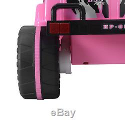 Toy Kids 12v Electric Car Battery Wheels Jeep Pink Girl Gift With Safty belt