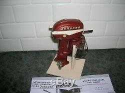 Toy Outboard Motor Johson K&o Fleet Line Boat Ito Battery Operated Wood Boat