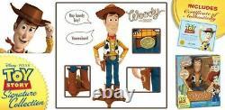 Toy Story Large Talking Sheriff Woody Figure SIGNATURE COLLECTION RARE NIB