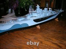 Toy Wood Boat Missouri Battleship Ito Wooden Boat Battery Operated Boat & Box