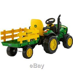 Tractor Ride-On John Deere Ground Force 12V Riding Toys Adjustable Seat Kids