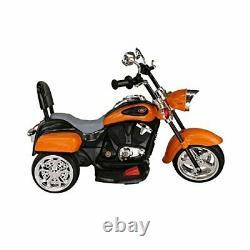 Trike Motorcycle Powered Ride on Motorcycle for Kids, 3-4 Years Old -Orange