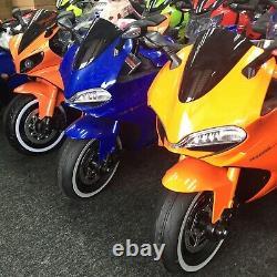 Tron Bike Kids Ride On Motorcycle 12V Battery LED Lights USB