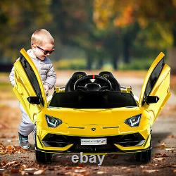 Uenjoy 12V Lamborghini Kids Electric Ride On Car with Remote Control