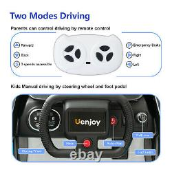 Uenjoy Electric Kids Ride On Cars with Remote Control, Flashiing Lights