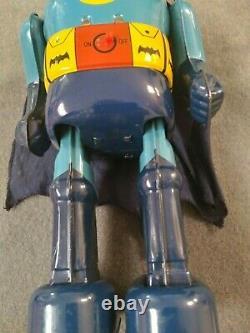 VERY RARE 1960's BATMAN TIN TOY ROBOT / NOMURA JAPAN L@@K