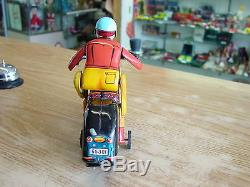 Vintage 1960's Japan Tm Battery Operated Motorcycle Multi-function Action Works