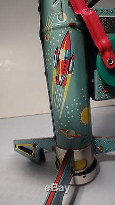 Vintage Coney Island Rocket Ride Battery Operated Toy With Original Box L@@k
