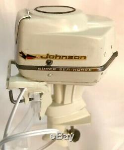 VINTAGE JOHNSON SUPER SEA HORSE 50hp K&O TOY OUTBOARD BOAT MOTOR WORKS GREAT