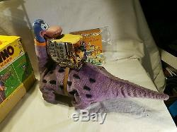 Vintage Marx Fred Flintstone On Dino Battery Operated Toy Beautiful Conditon
