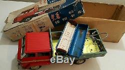 Vintage Tin Toy Truck Communication China Me 723 Battery Operated 60's Original