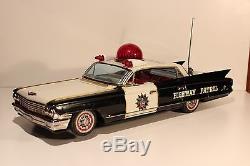 Vintage Very Rare Japan Battery Big Tin Toy Car Cadillac Police Patrolyozenawa