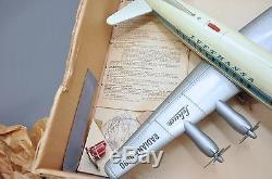 Vint. 1950's Schuco Battery Op. Elektro Radiant 5600 Lufthansa Airlines Tin Toy