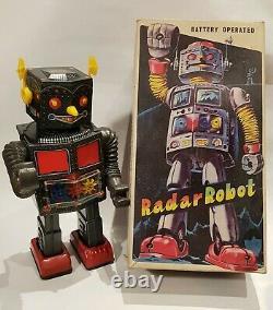 Very Rare 1970 Nomura Radar Robot TOPOLINO Battery Operated Tin Toy NM in Box