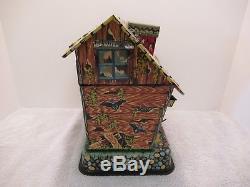Vintage1963 Marx Hootin' Hollow Haunted Housebattery Operatedtin Litho Toy