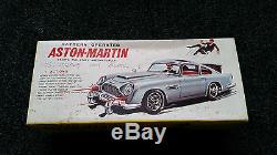 Vintage 007 James Bond Aston Martin Tinplate ASC Battery Operated 1966