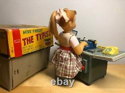 Vintage 1950's Japan Battery Operated Miss Friday the Typist VGC & Original Box