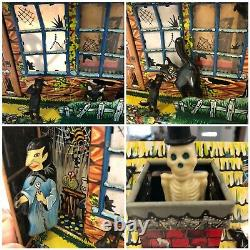 Vintage 1950s Hootin Hollow Haunted House Battery Operated Toy Marx SEE VIDEO